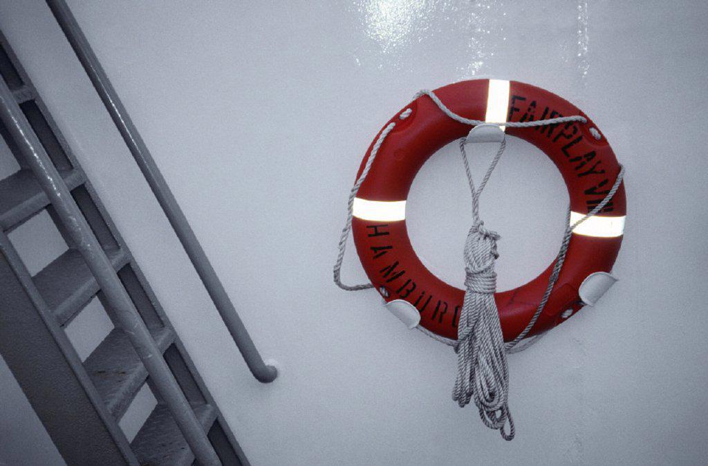 ship, detail, life-saver : Stock Photo