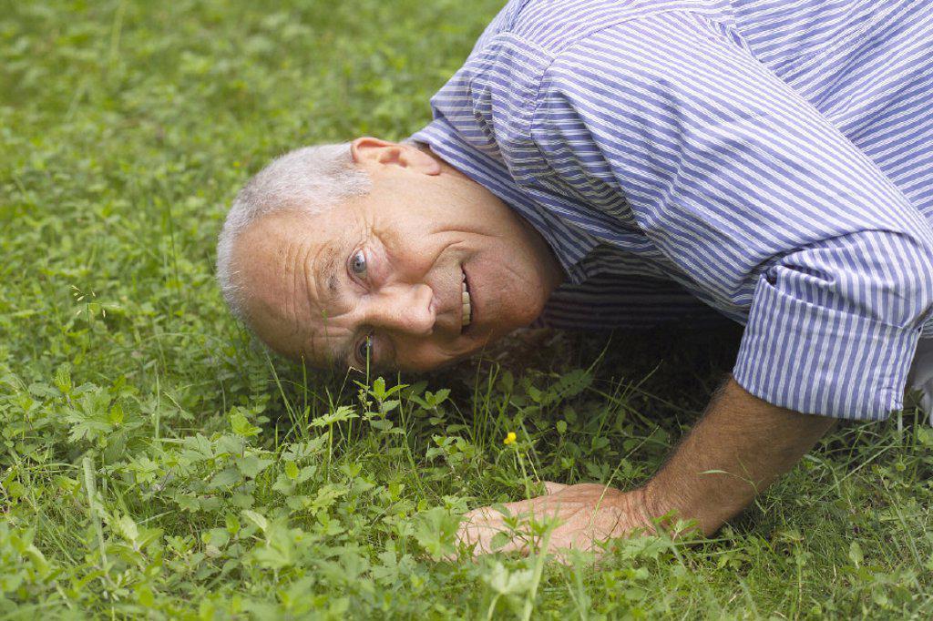 Meadow, senior : Stock Photo