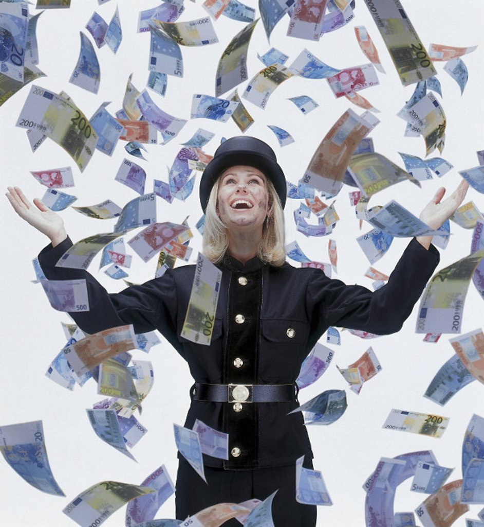 Woman, Disguise, Chimney sweep : Stock Photo