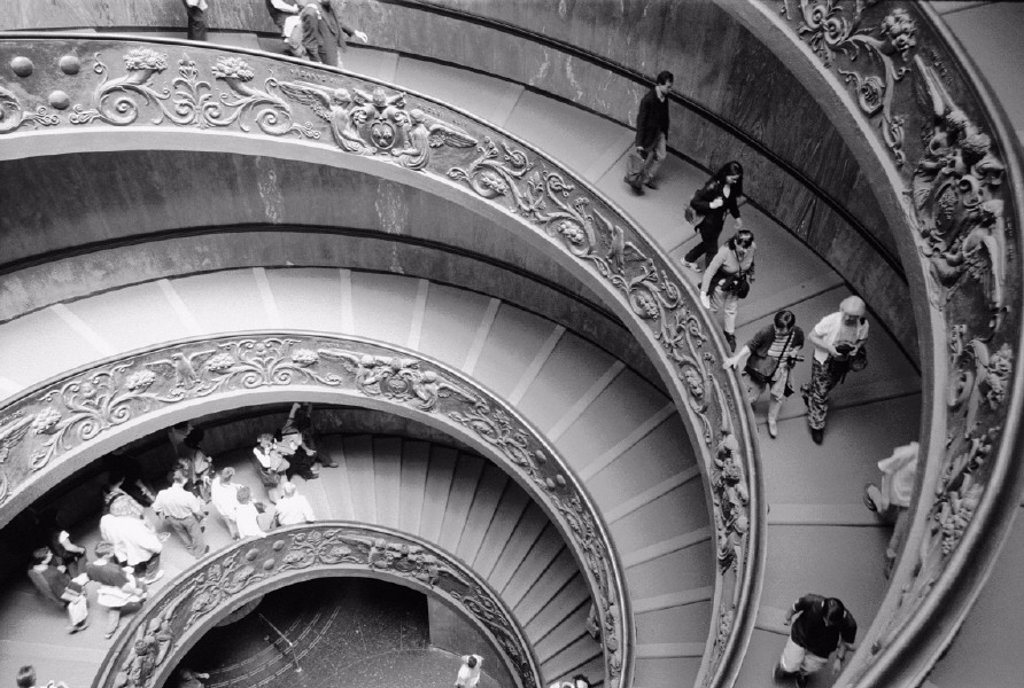 Stock Photo: 1558-52918 Italy, Rome, Vatikanisches-Museum, stairway,