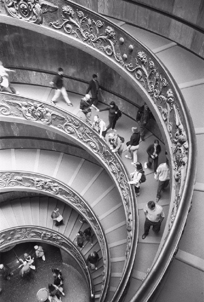 Italy, Rome, Vatikanisches-Museum, stairway, : Stock Photo