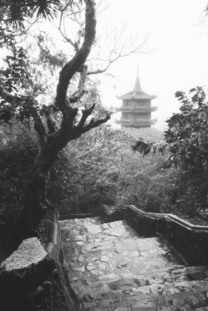 Vietnam, Danang, Marbel Mountains, temples, : Stock Photo