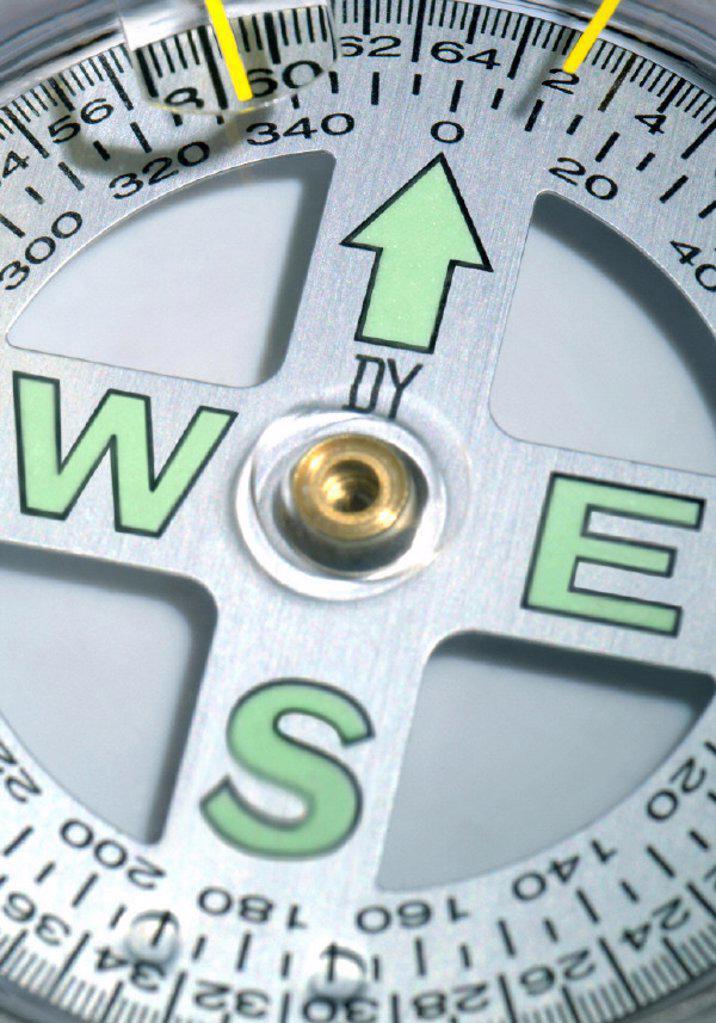 Compass, detail, navigation : Stock Photo