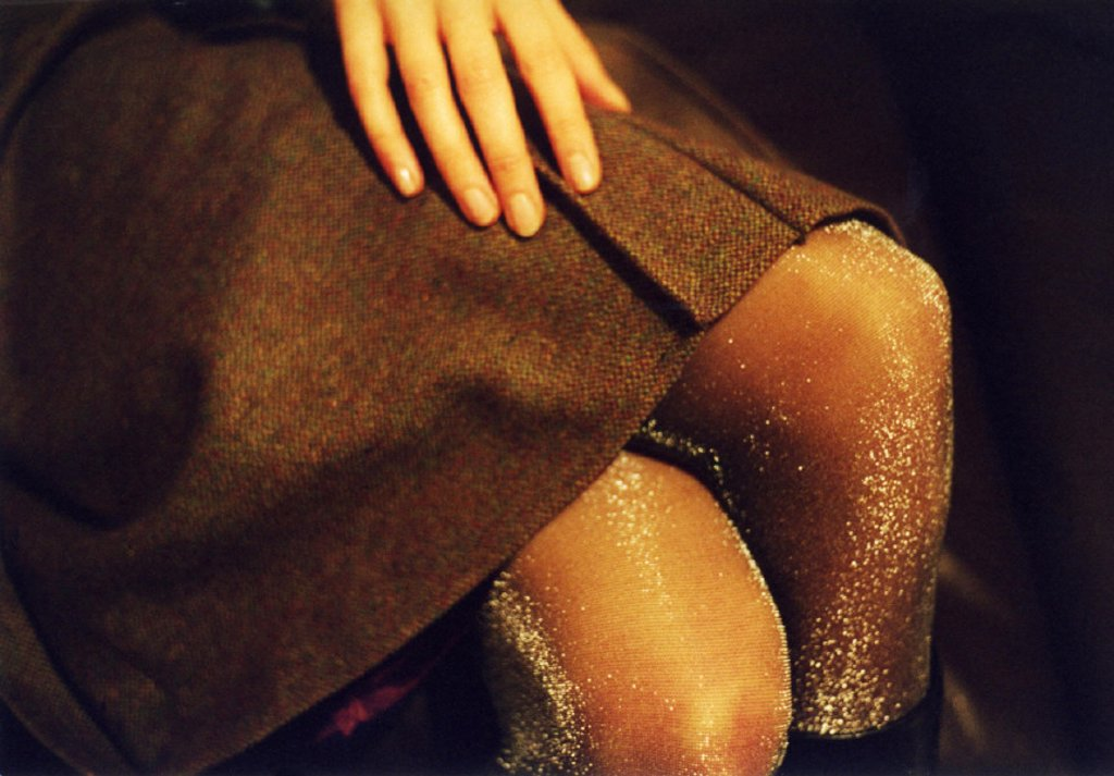 Woman, skirt, detail, knees, : Stock Photo
