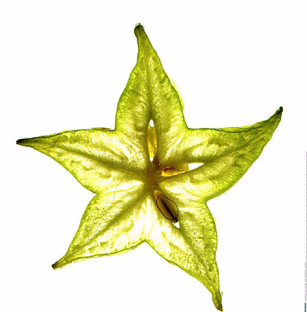 Stock Photo: 1558-56510 Star fruit, Karambola, slice