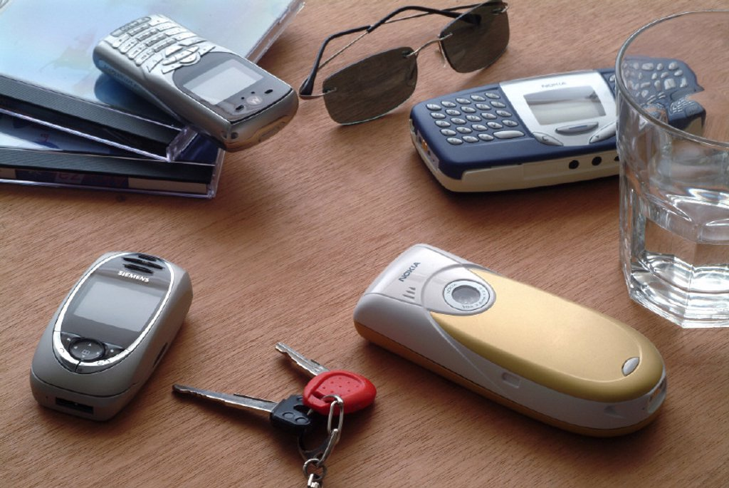 Stock Photo: 1558-57535 Mobile phones, differently