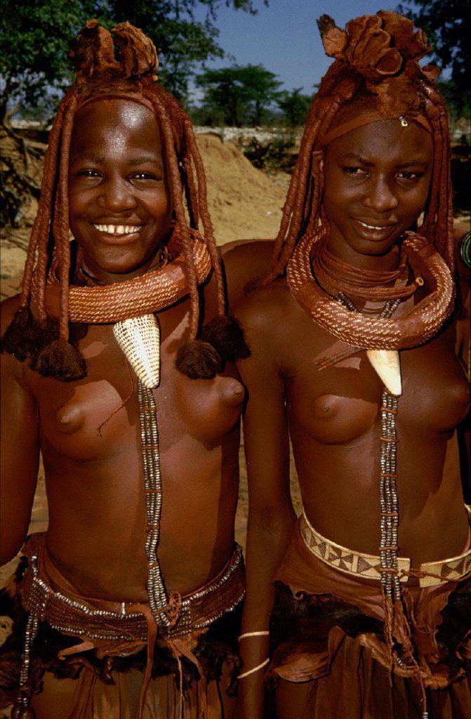 Stock Photo: 1558-58656 Namibia, Kaokoveld, Himba tribe