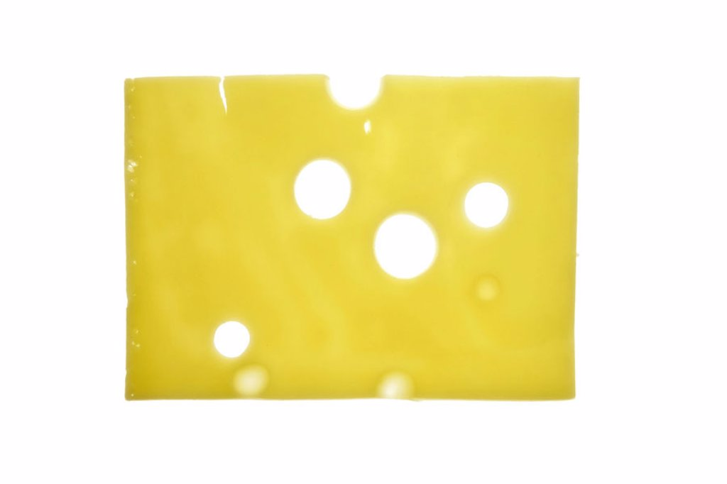 Cheese  holes,   Food, cheese, cheese cold cuts, cold cuts, hard cheese, Emmentaler,  pestered cut, bragged, milk product, dairy product, yellow, quietly life, studio, free plates, fact reception : Stock Photo