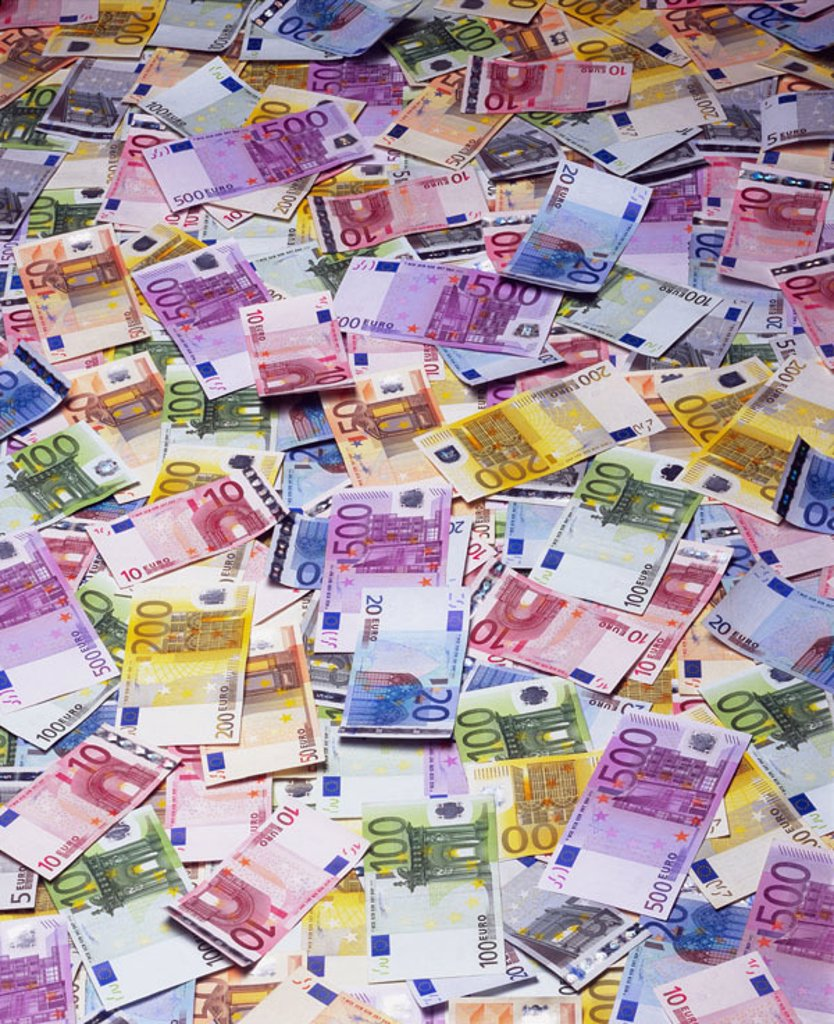 Bills, Euro, value, different,  truncated,   Series, money, cash, Euro appearances, bills, appearances, unit currency, currency unit, means of payment, European, detail, Background, colorfully, concept, wealth, profit, money profit, quietly life, fact rec : Stock Photo
