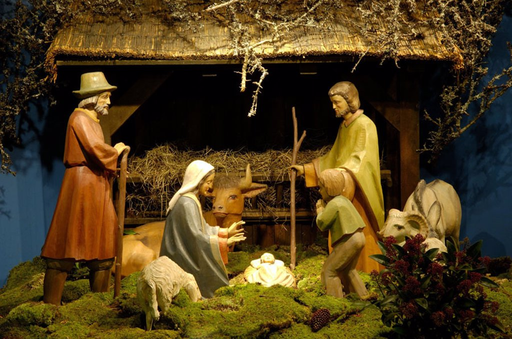 Christmas manger, : Stock Photo