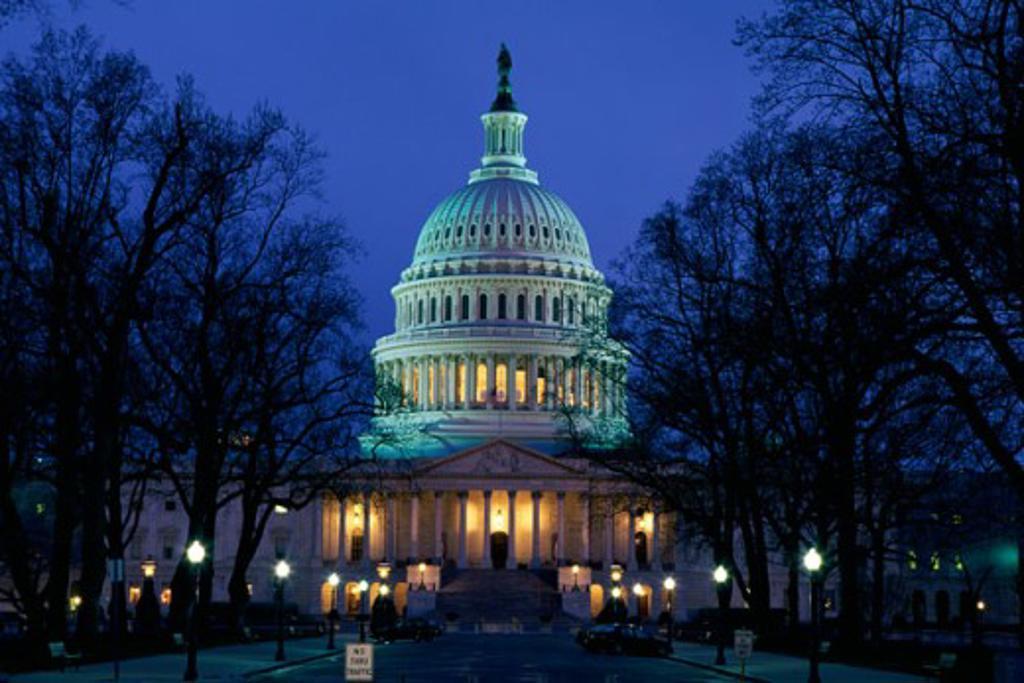 Stock Photo: 1561-206 Facade of a government building, Capitol Building, Washington DC, USA