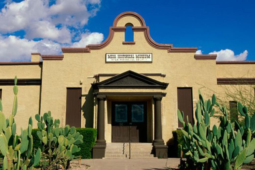 Stock Photo: 1561-225 Facade of a museum, Mesa Historical Museum, Mesa, Arizona, USA