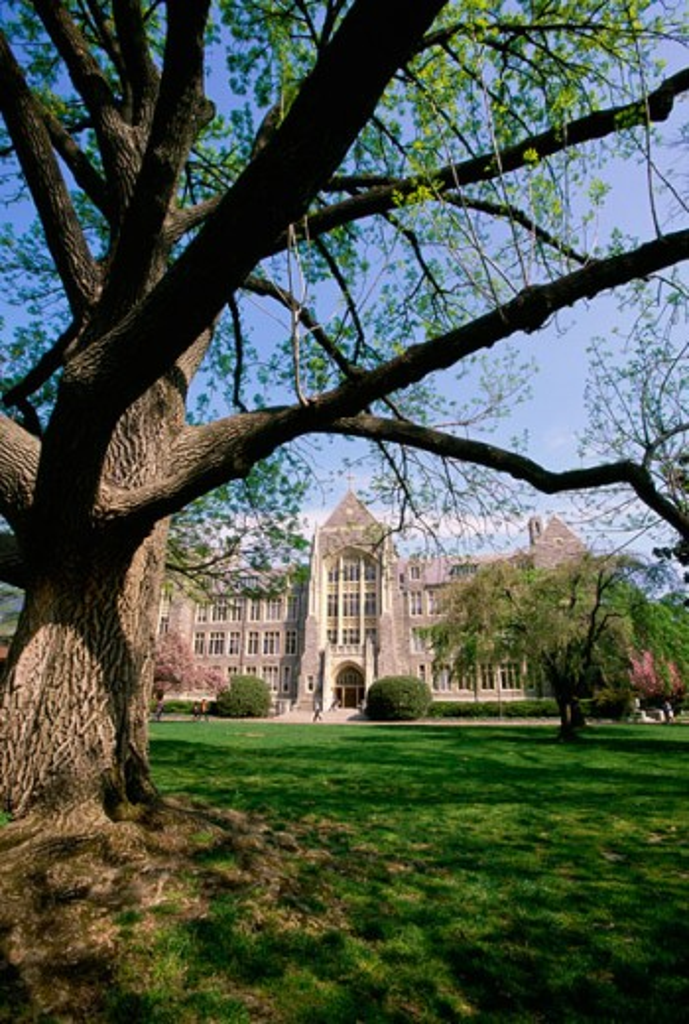 Stock Photo: 1561-583 White-Gravenor Hall Georgetown University Georgetown, Washington, D.C., USA