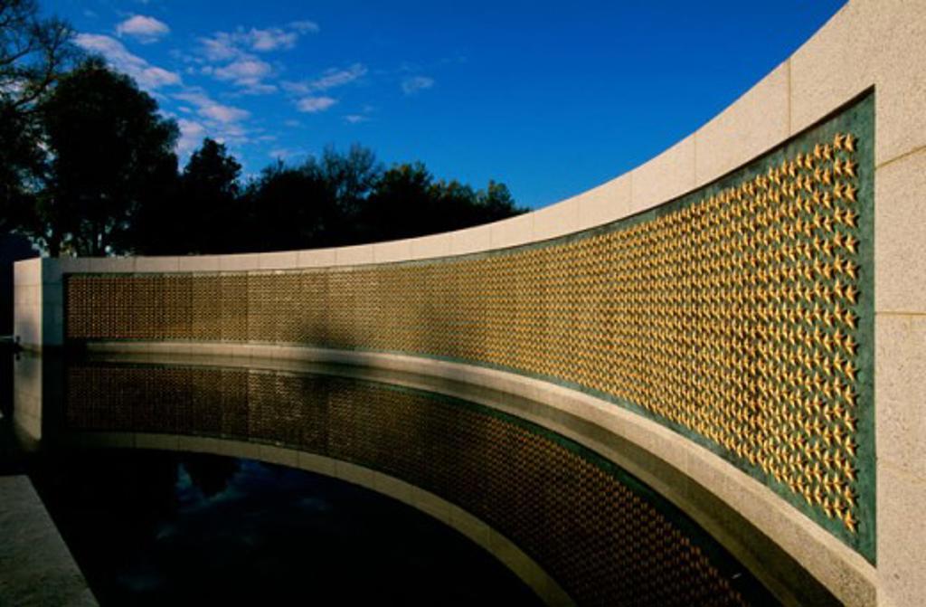 Stock Photo: 1561-618 National World War II Memorial  Washington, D.C. USA