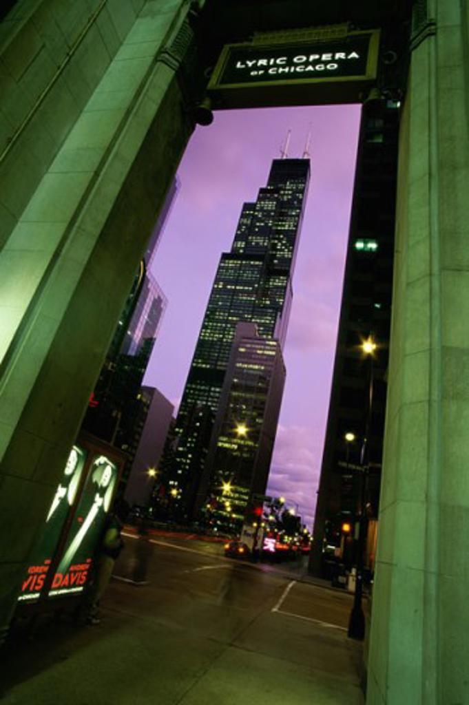 Stock Photo: 1561-732 Lyric Opera of Chicago Sears Tower Chicago, Illinois, USA