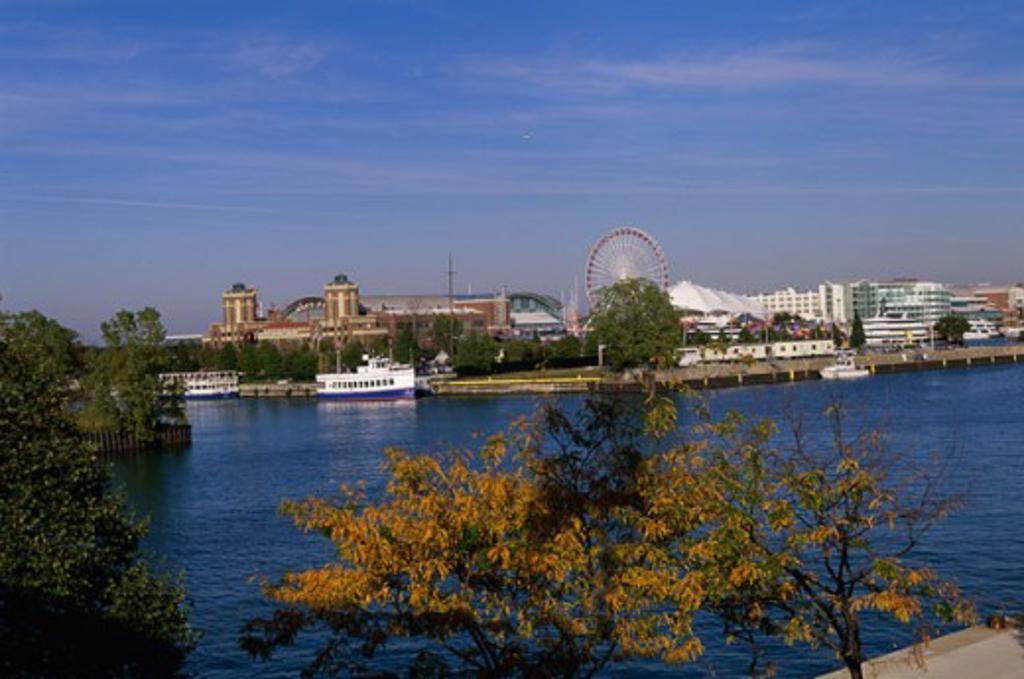 Navy Pier Lake Michigan Chicago, Illinois, USA : Stock Photo