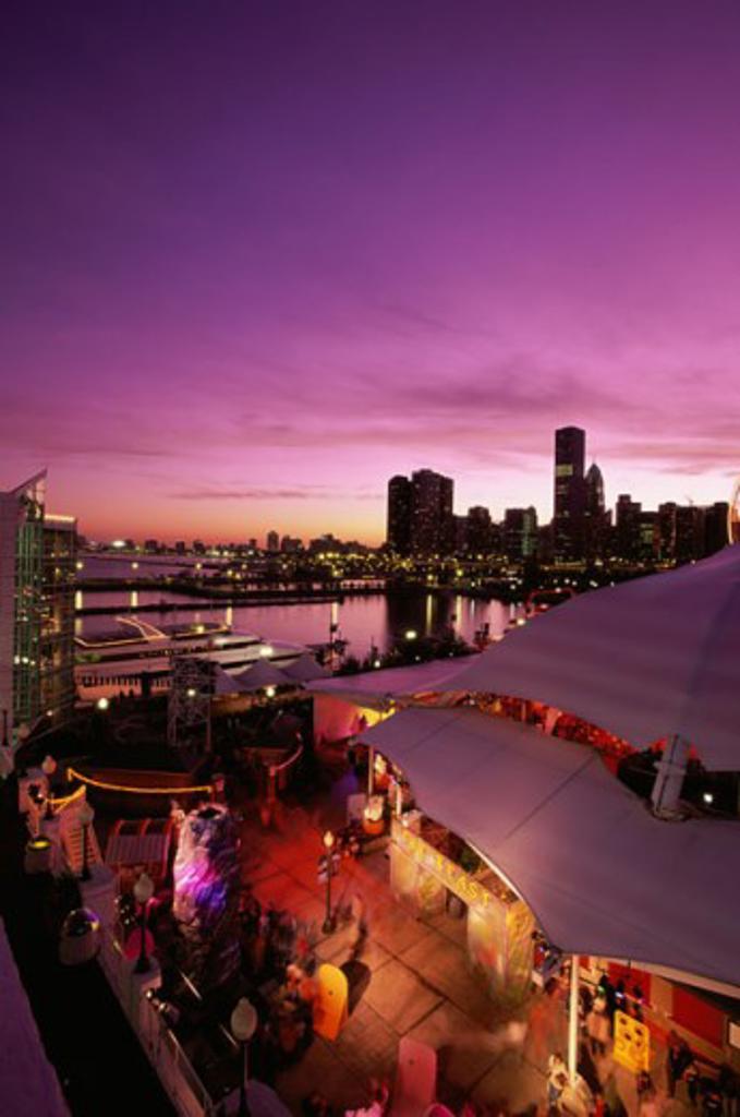 Navy Pier Chicago Illinois, USA : Stock Photo