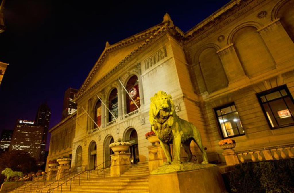 Stock Photo: 1561-787 Art Institute of Chicago Chicago Illinois, USA