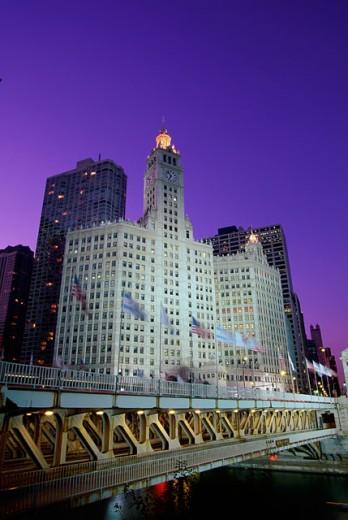 Wrigley Building Chicago Illinois, USA : Stock Photo