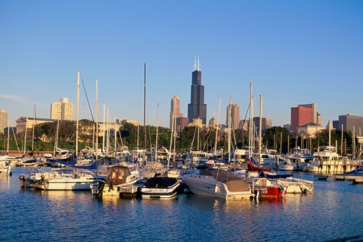 Stock Photo: 1561-854 Burnam Park Harbor
