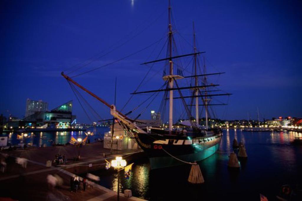 Stock Photo: 1561-899B USS Constellation Baltimore Maryland, USA