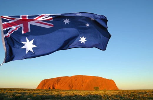 Stock Photo: 1565-143 Close-up of the Australian flag, Uluru-Kata Tjuta National Park, Australia
