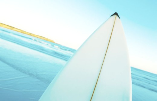 Stock Photo: 1565-148 Close-up of a surfboard, Fishery Bay, Australia
