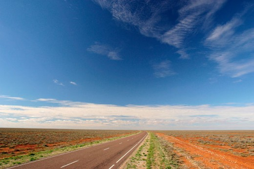 Stock Photo: 1565-153 Road passing through a landscape, Australia