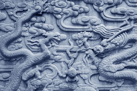 Stock Photo: 1565-236 Detail of a carving, Forbidden City, Beijing, China