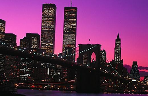 Stock Photo: 1566-0100323 Brooklyn Bridge. New York City. USA