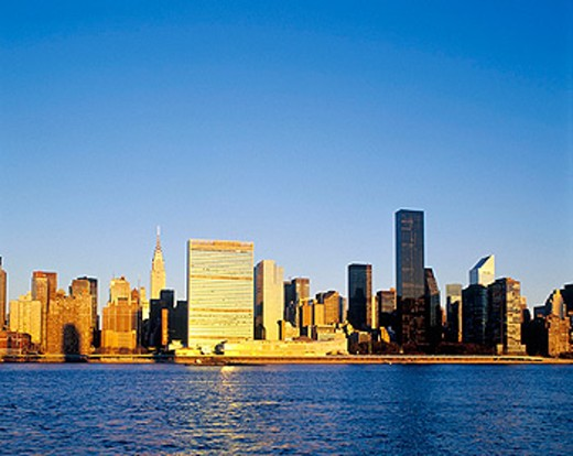 Mid-town Manhattan skyline. New York City, USA : Stock Photo