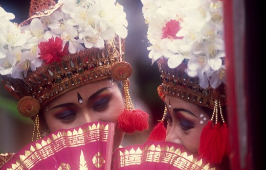 Legong dancers. Bali. Indonesia : Stock Photo