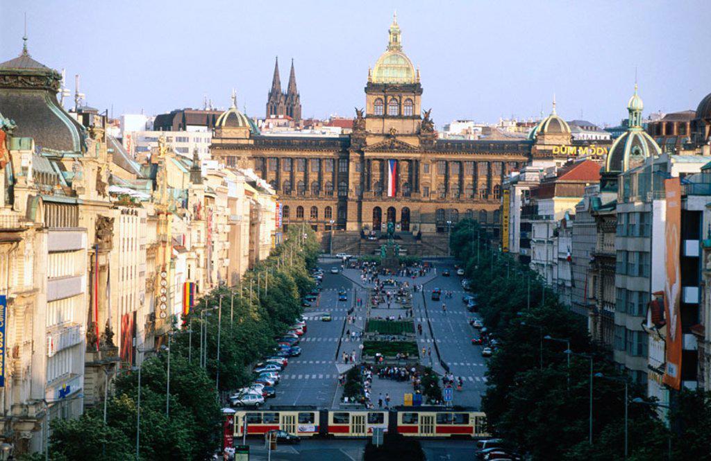 Stock Photo: 1566-0104192 Wenceslas Square. Prague. Czech Republic