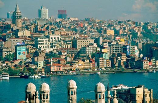 Istambul skyline. Turkey : Stock Photo