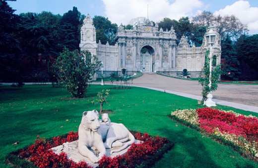Garden of the Dolmabahce Palace in Istambul. Turkey : Stock Photo