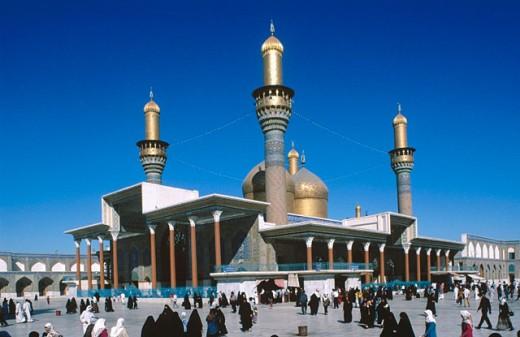 Stock Photo: 1566-0104418 Sanctuary Mosque Al Kadhimain. Baghdad. Iraq