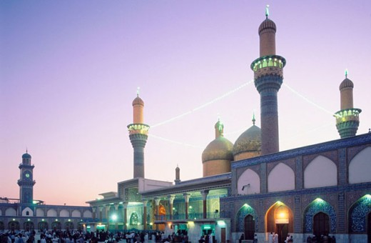 Stock Photo: 1566-0104421 Sanctuary Mosque Al Kadhimain. Baghdad. Iraq