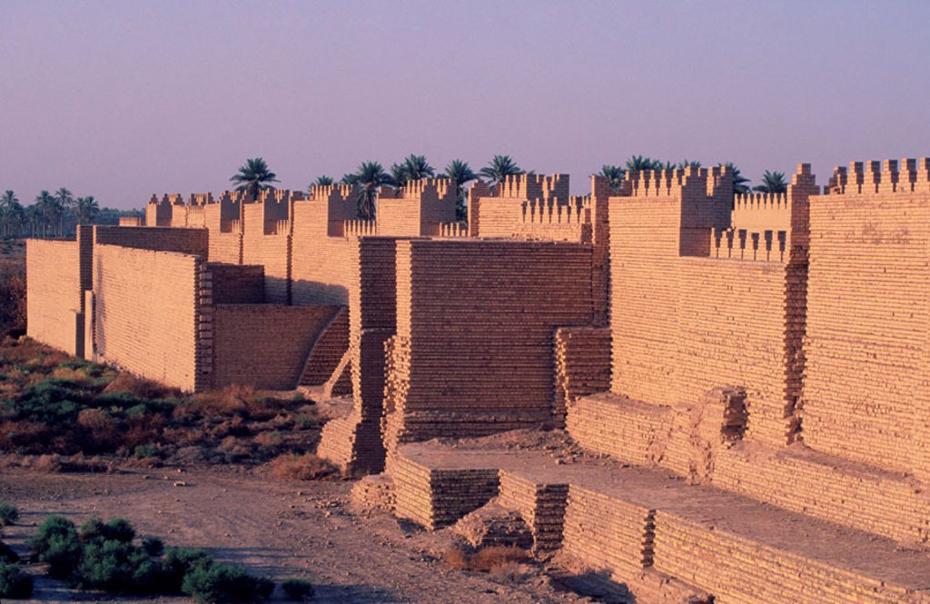 Citywalls. Babylon. Irak : Stock Photo