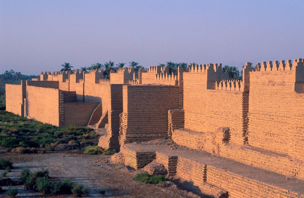 Nabuchodonosor south palace. Babylon. Irak : Stock Photo