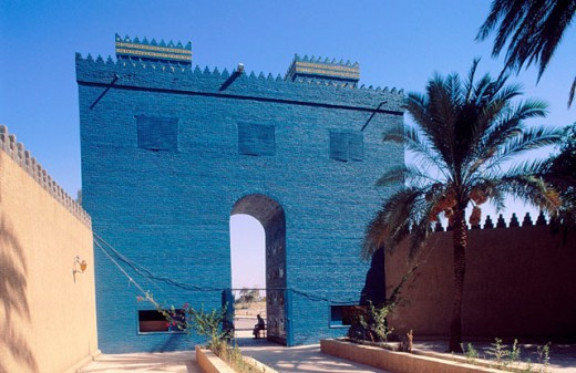 Gate of Ishtar reconstruction. Babylon. Irak : Stock Photo