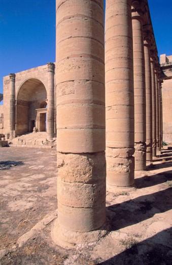 Marn Temple 80 AP. Hatra. Irak : Stock Photo
