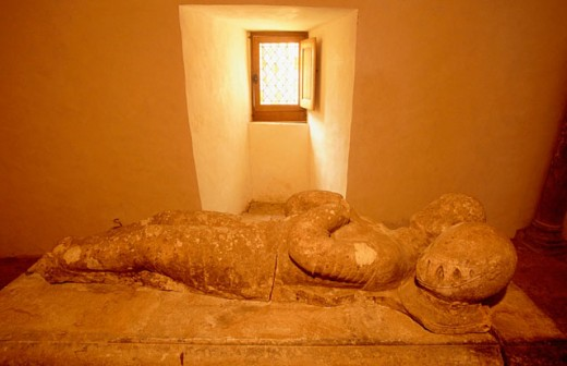 Blaise de Montlluc sarcophagus. Chateau d´Estillac. Lot et Garonne. France : Stock Photo
