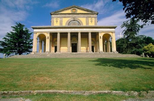 View of Canoscio´s shrine. Montone. Umbria. Italy : Stock Photo
