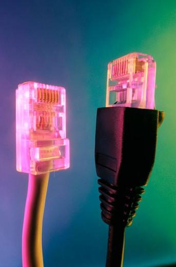 Telephone plugs : Stock Photo
