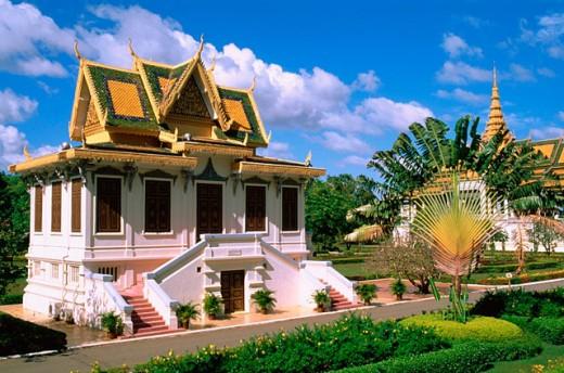 Stock Photo: 1566-0105651 Royal Palace. Phnom Penh. Cambodia