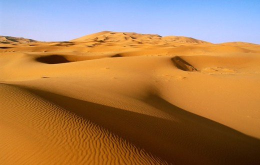 Dunes of Merzouga. Sahara Desert. Morocco : Stock Photo