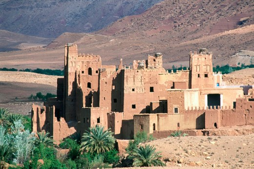 Tamtakh village, surrounding area of Aït Benhaddou. Morocco : Stock Photo