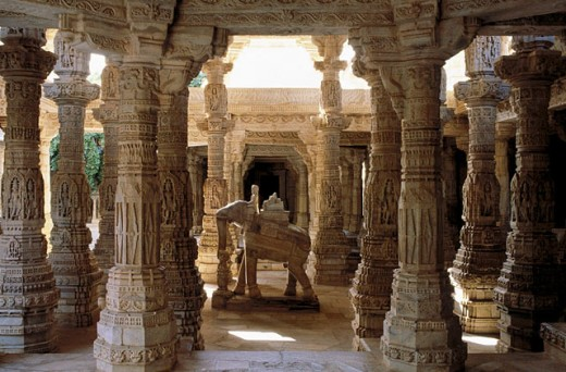 Adinath temple built 15th century. Ranakpur. Rajasthan. India : Stock Photo