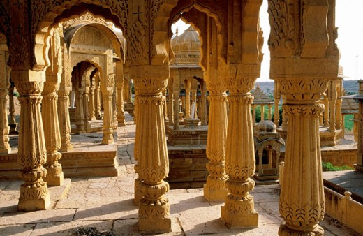 Stock Photo: 1566-0105774 Cenotaph of the Maharajahs. Jaisalmer. Rajasthan. India
