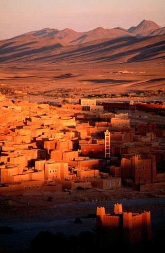 Kasbah et Imiter village. Dades Valley. High Atlas. Morocco : Stock Photo